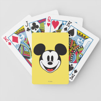 Mickey Mouse Smiling Bicycle Playing Cards