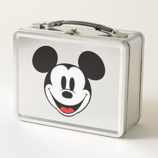 Mickey Mouse Smiling Metal Lunch Box