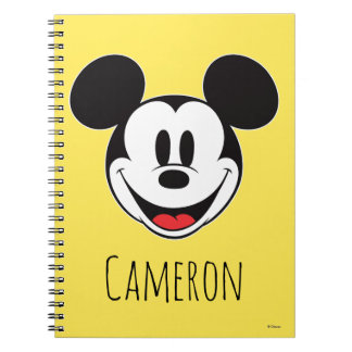 Mickey Mouse Smiling - Personalized Notebook