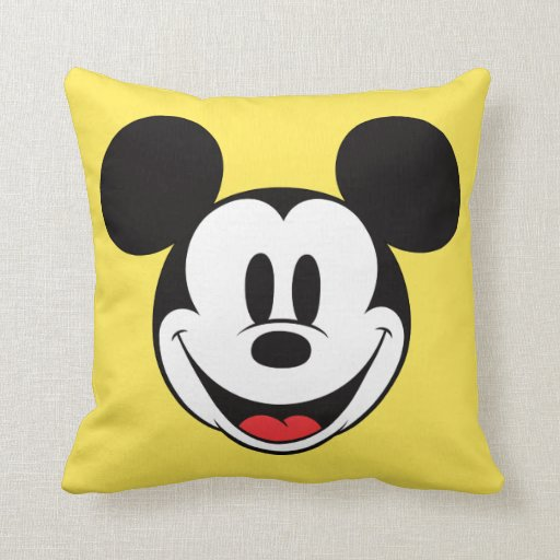 Mickey Mouse Smiling Pillows Zazzle