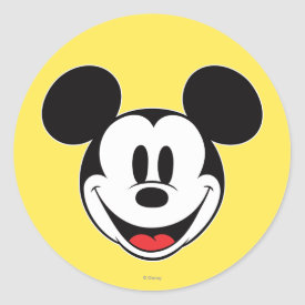 Mickey Mouse Smiling Sticker