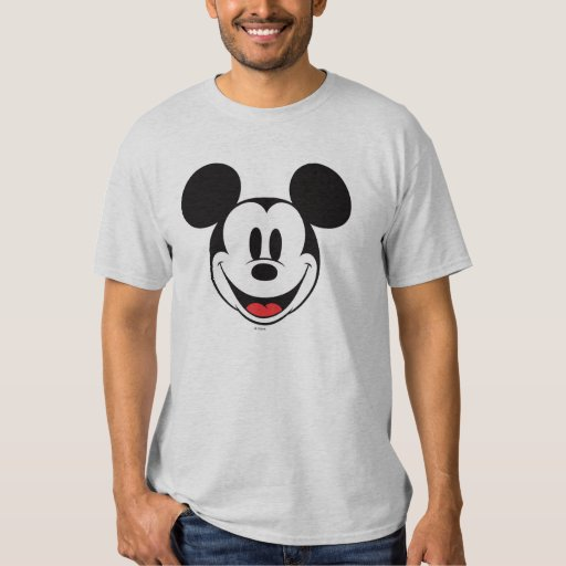 mickey mouse smiling t shirt zazzle. Black Bedroom Furniture Sets. Home Design Ideas