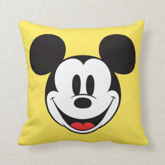 Mickey Mouse Smiling Throw Pillow