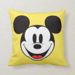 Mickey Mouse Smiling Throw Pillows