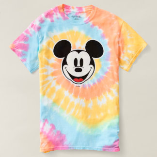 Mickey Mouse Smiling Tie-Dye T-shirt