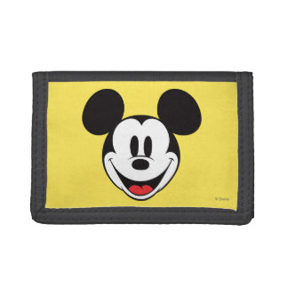 Mickey Mouse Smiling Trifold Wallet