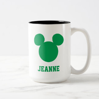 Mickey Mouse St. Patrick's Day | Add Your Name Two-Tone Coffee Mug