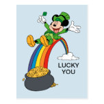 Mickey Mouse | St. Patrick's Day - Pot of Gold Postcard