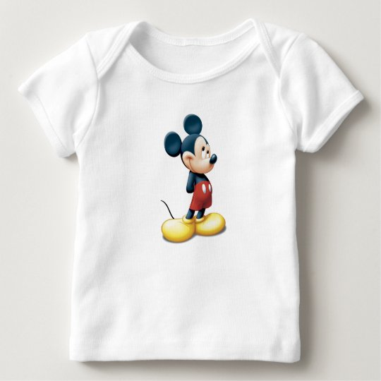 Mickey Mouse standing shy Baby T-Shirt