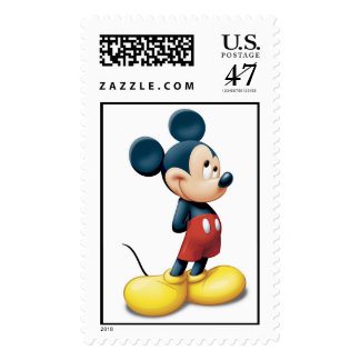 Mickey Mouse standing shy Postage Stamp