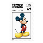 Mickey Mouse standing shy Stamp