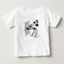 Mickey Mouse Steamboat Captain Baby T-Shirt