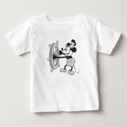 Baby Fine Jersey T-Shirt with Steamboat Willie Mickey Mouse design