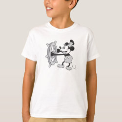 Kids' Hanes TAGLESS® T-Shirt with Steamboat Willie Mickey Mouse design