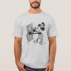 Steamboat Willie Mickey Mouse Men's Basic T-Shirt