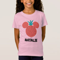 Mickey Mouse Strawberry Icon | Name T-Shirt