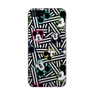 Mickey Mouse   Stripe Pattern Metallic iPhone SE/5/5s Case