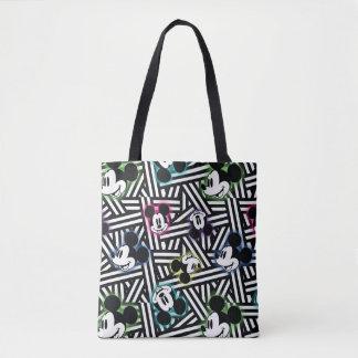 Mickey Mouse | Stripe Pattern Tote Bag
