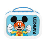Mickey Mouse   Super Hero Cute Lunch Box<br><div class='desc'>Your favorite Disney character,  Mickey is featured in this fun super hero comic inspired graphic.</div>