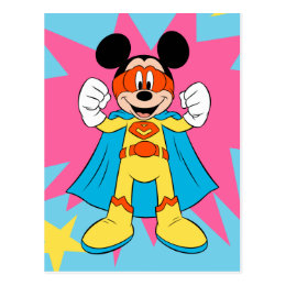 Mickey Mouse | Super Hero Cute Postcard