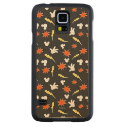Carved ® Samsung Galaxy S5 Slim Wood Case with Mickey Mouse Patterns design