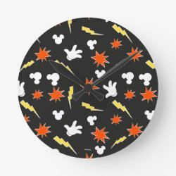 Medium Round Wall Clock with Mickey Mouse Patterns design