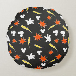 Round Throw Pillow (16') with Mickey Mouse Patterns design