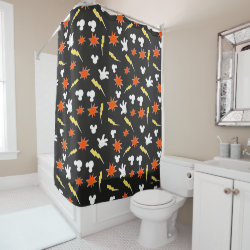 Mickey Mouse Patterns Shower Curtain