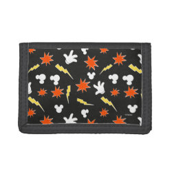TriFold Nylon Wallet with Mickey Mouse Patterns design