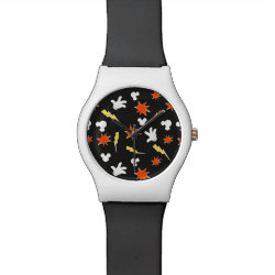 Round May28th Watch with Mickey Mouse Patterns design