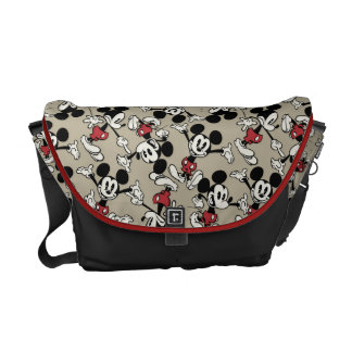 Mickey Mouse Tan Pattern Messenger Bags