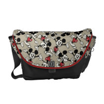 Mickey Mouse Tan Pattern Messenger Bags at Zazzle