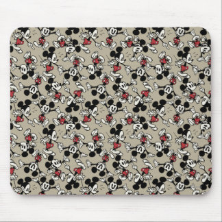 Mickey Mouse Tan Pattern Mouse Pad