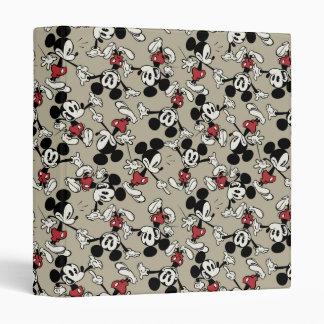 Mickey Mouse Tan Pattern Vinyl Binder