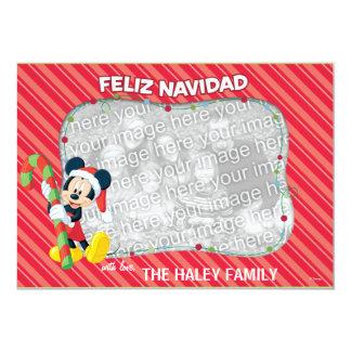 """Mickey Mouse: Tarjeta de Feliz Navidad Invitación 5"""" X 7"""""""