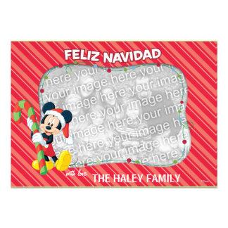 Mickey Mouse Tarjeta de Feliz Navidad