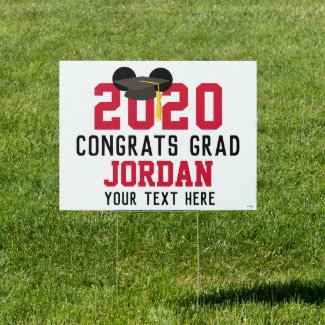 Mickey Mouse | Tassle Graduation Sign
