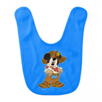 Mickey Mouse the Cowboy Baby Bib