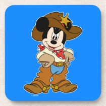 Mickey Mouse the Cowboy Beverage Coaster