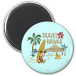 Mickey Mouse Travel Hawaii 2 Inch Round Magnet