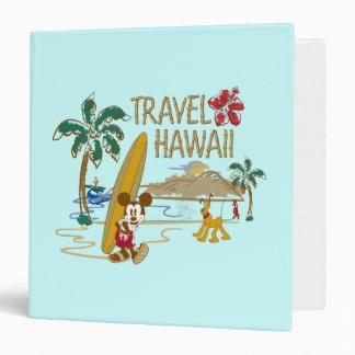 Mickey Mouse Travel Hawaii Vinyl Binders