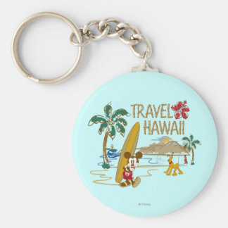Mickey Mouse Travel Hawaii Keychains