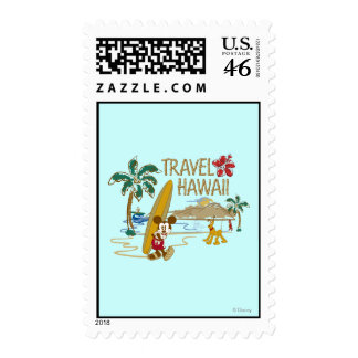 Mickey Mouse Travel Hawaii Postage Stamp