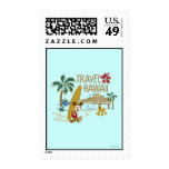 Mickey Mouse Travel Hawaii Postage Stamps