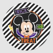 Mickey Mouse | Trick or Treat Halloween Party Classic Round Sticker
