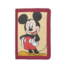 Mickey Mouse Trifold Wallet at Zazzle
