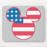 Mickey Mouse USA flag icon Mouse Pad