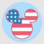 Mickey Mouse USA flag icon Stickers