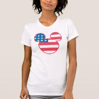 Mickey Mouse USA flag icon T Shirt