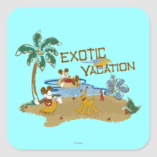 Mickey Mouse Vacation Sticker